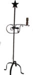 wrought iron floor lamp star top