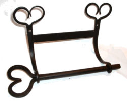 toilet paper bar heart hand forged