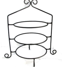 wrought iron 3 tier pie stand