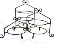 wrought iron pie and cupcake stand set of 3