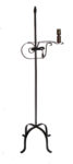 wrought iron flame top floor lamp